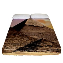 Pyramids Egypt Fitted Sheet (king Size) by Celenk