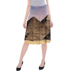 Pyramids Egypt Midi Beach Skirt