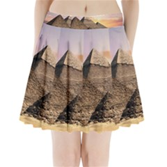 Pyramids Egypt Pleated Mini Skirt by Celenk