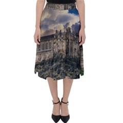 Castle Monument Landmark Folding Skater Skirt
