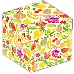 Cute Fruits Pattern Storage Stool 12   by paulaoliveiradesign