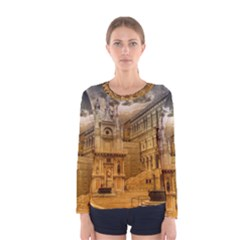 Palace Monument Architecture Women s Long Sleeve Tee by Celenk