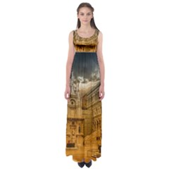 Palace Monument Architecture Empire Waist Maxi Dress by Celenk