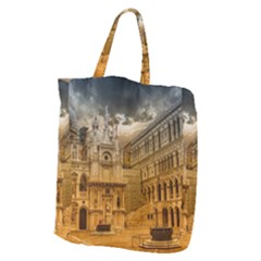 Palace Monument Architecture Giant Grocery Zipper Tote