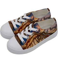 Canyon Dramatic Landscape Sky Kids  Low Top Canvas Sneakers by Celenk