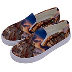 Canyon Dramatic Landscape Sky Kids  Canvas Slip Ons by Celenk