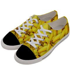 Yellow Banana Fruit Vegetarian Natural Women s Low Top Canvas Sneakers by Celenk