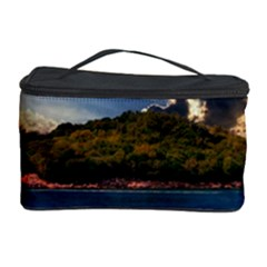 Island God Rays Sky Nature Sea Cosmetic Storage Case by Celenk