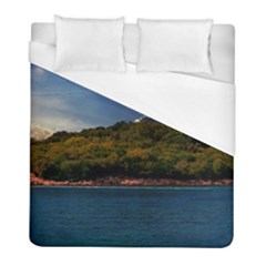 Island God Rays Sky Nature Sea Duvet Cover (full/ Double Size) by Celenk