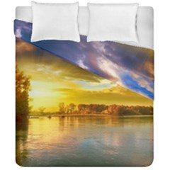 Landscape Lake Sun Sky Nature Duvet Cover Double Side (california King Size) by Celenk