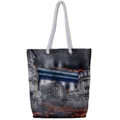 Destruction City Building Full Print Rope Handle Tote (small)