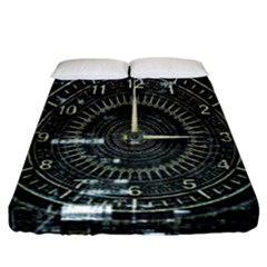 Time Machine Science Fiction Future Fitted Sheet (california King Size)