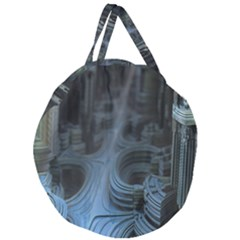 Fractal Design Giant Round Zipper Tote by Celenk