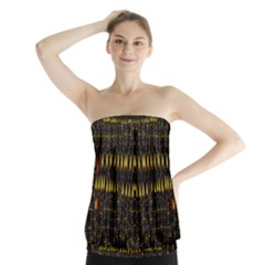 Hot As Candles And Fireworks In The Night Sky Strapless Top by pepitasart