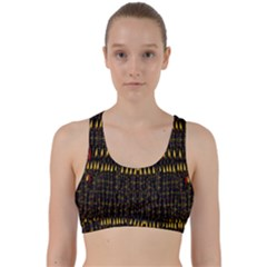 Hot As Candles And Fireworks In The Night Sky Back Weave Sports Bra