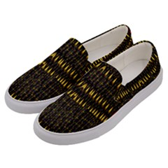 Hot As Candles And Fireworks In The Night Sky Men s Canvas Slip Ons by pepitasart