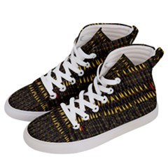 Hot As Candles And Fireworks In The Night Sky Men s Hi Top Skate Sneakers by pepitasart