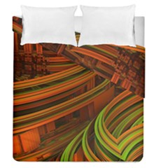 Science Fiction Technology Duvet Cover Double Side (queen Size)