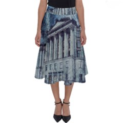 Storm Rain Lightning Weather Perfect Length Midi Skirt