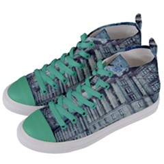 Storm Rain Lightning Weather Women s Mid Top Canvas Sneakers by Celenk