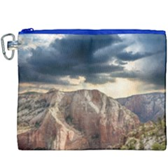 Nature Landscape Clouds Sky Rocks Canvas Cosmetic Bag (xxxl) by Celenk