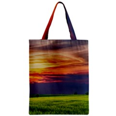 Countryside Landscape Nature Rural Zipper Classic Tote Bag by Celenk