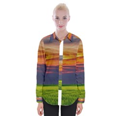 Countryside Landscape Nature Rural Womens Long Sleeve Shirt
