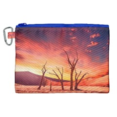 Desert Arid Dry Drought Landscape Canvas Cosmetic Bag (xl) by Celenk