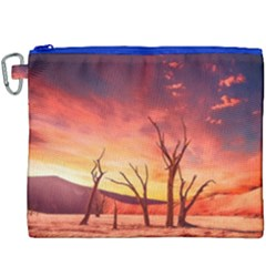 Desert Arid Dry Drought Landscape Canvas Cosmetic Bag (xxxl) by Celenk