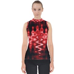 Red And Black Wave Pattern Shell Top