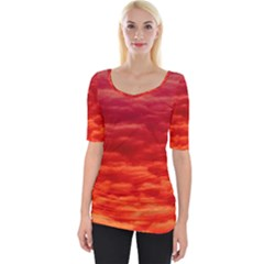 Red Cloud Wide Neckline Tee