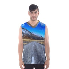 Road Mountain Landscape Travel Men s Basketball Tank Top