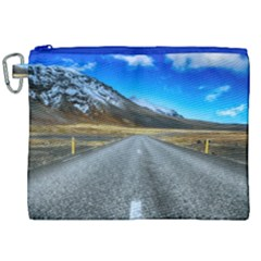 Road Mountain Landscape Travel Canvas Cosmetic Bag (xxl)