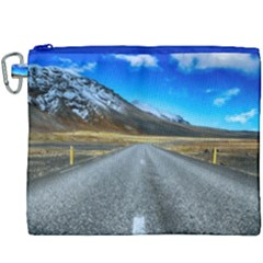 Road Mountain Landscape Travel Canvas Cosmetic Bag (xxxl) by Celenk