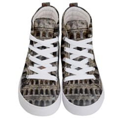 Colosseum Italy Landmark Coliseum Kid s Hi Top Skate Sneakers