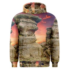 Rocks Landscape Sky Sunset Nature Men s Overhead Hoodie