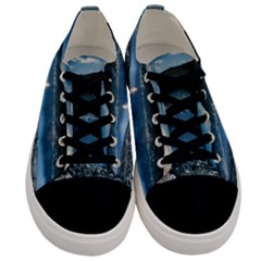 Shore Mountain Water Landscape Men s Low Top Canvas Sneakers