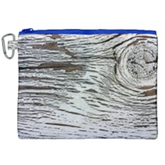 Wood Knot Fabric Texture Pattern Rough Canvas Cosmetic Bag (xxl) by Celenk