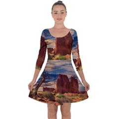Bryce Canyon Usa Canyon Bryce Quarter Sleeve Skater Dress
