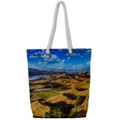 Hills Countryside Landscape Rural Full Print Rope Handle Tote (small)