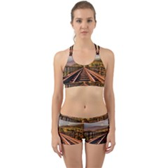 Railway Track Travel Railroad Back Web Sports Bra Set
