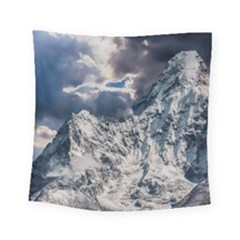 Mountain Snow Winter Landscape Square Tapestry (small)
