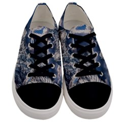 Mountain Snow Winter Landscape Men s Low Top Canvas Sneakers