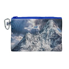 Mountain Snow Winter Landscape Canvas Cosmetic Bag (large) by Celenk