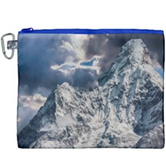 Mountain Snow Winter Landscape Canvas Cosmetic Bag (xxxl) by Celenk
