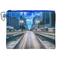 Urban Street Cityscape Modern City Canvas Cosmetic Bag (xxl) by Celenk