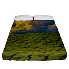 Sunrise Hills Landscape Nature Sky Fitted Sheet (queen Size)