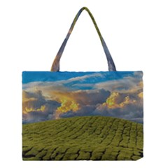 Sunrise Hills Landscape Nature Sky Medium Tote Bag