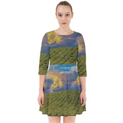 Sunrise Hills Landscape Nature Sky Smock Dress