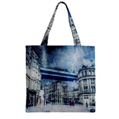 Storm Weather Nature Thunderstorm Zipper Grocery Tote Bag by Celenk